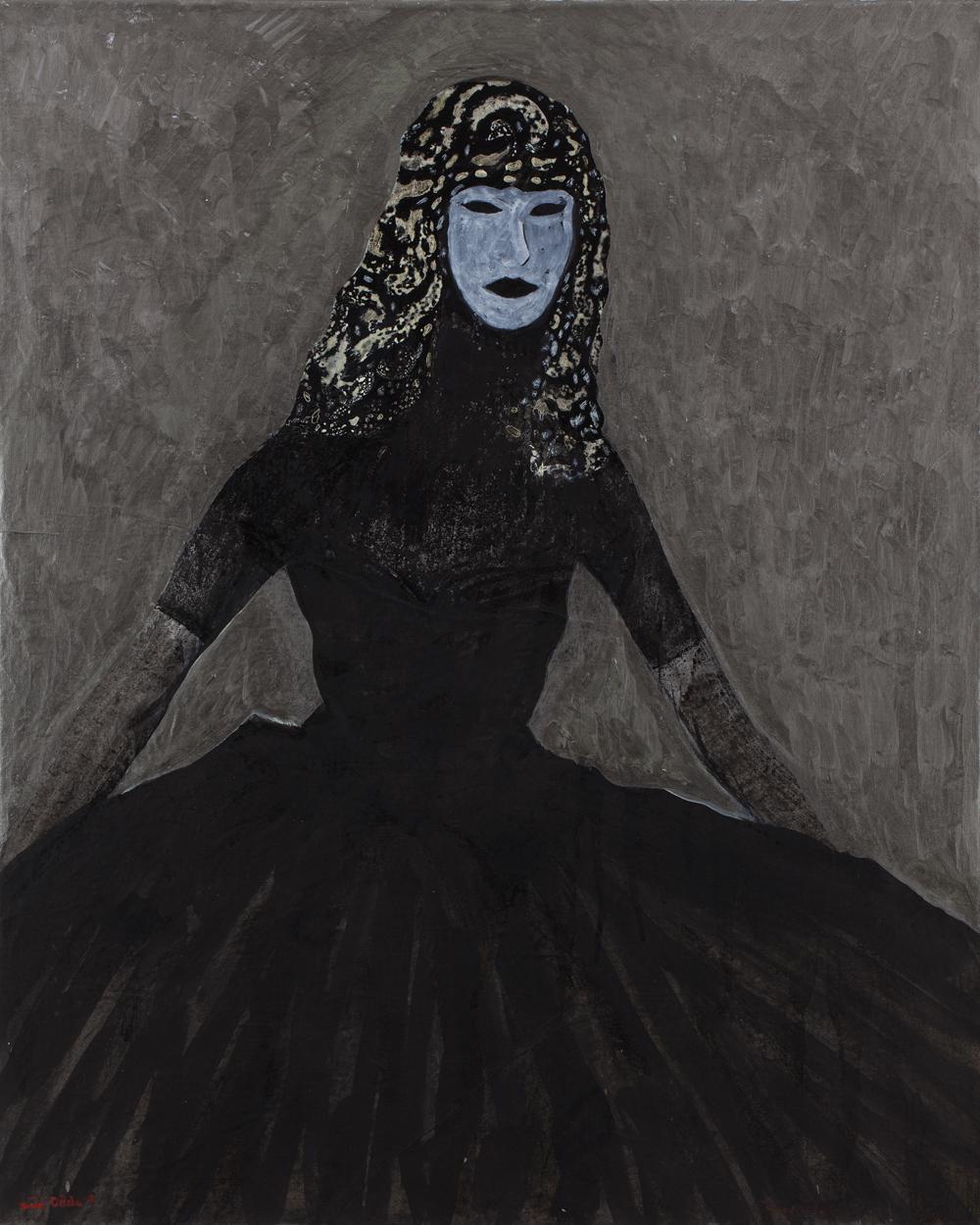 Canvas_Lady Murasaki_102x83,5cm_Acrylic on paper and canvas_2013