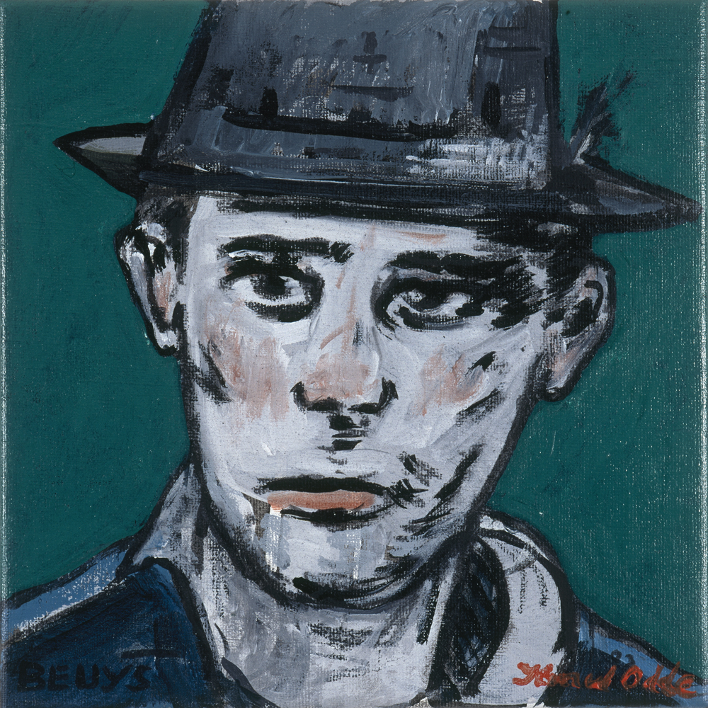 Canvas_Beuys_30x30cm_Acrylic on canvas_2006
