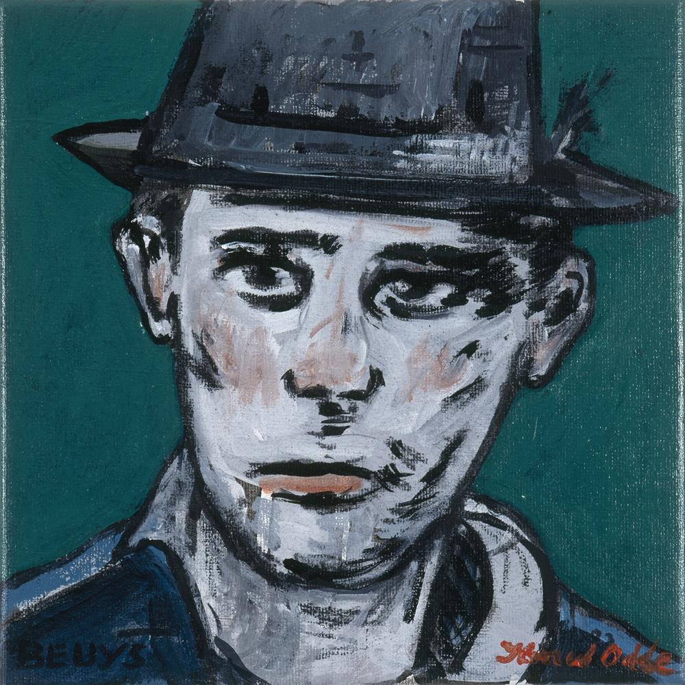Canvas_Beuys_30x30cm_Acrylic on canvas_2006