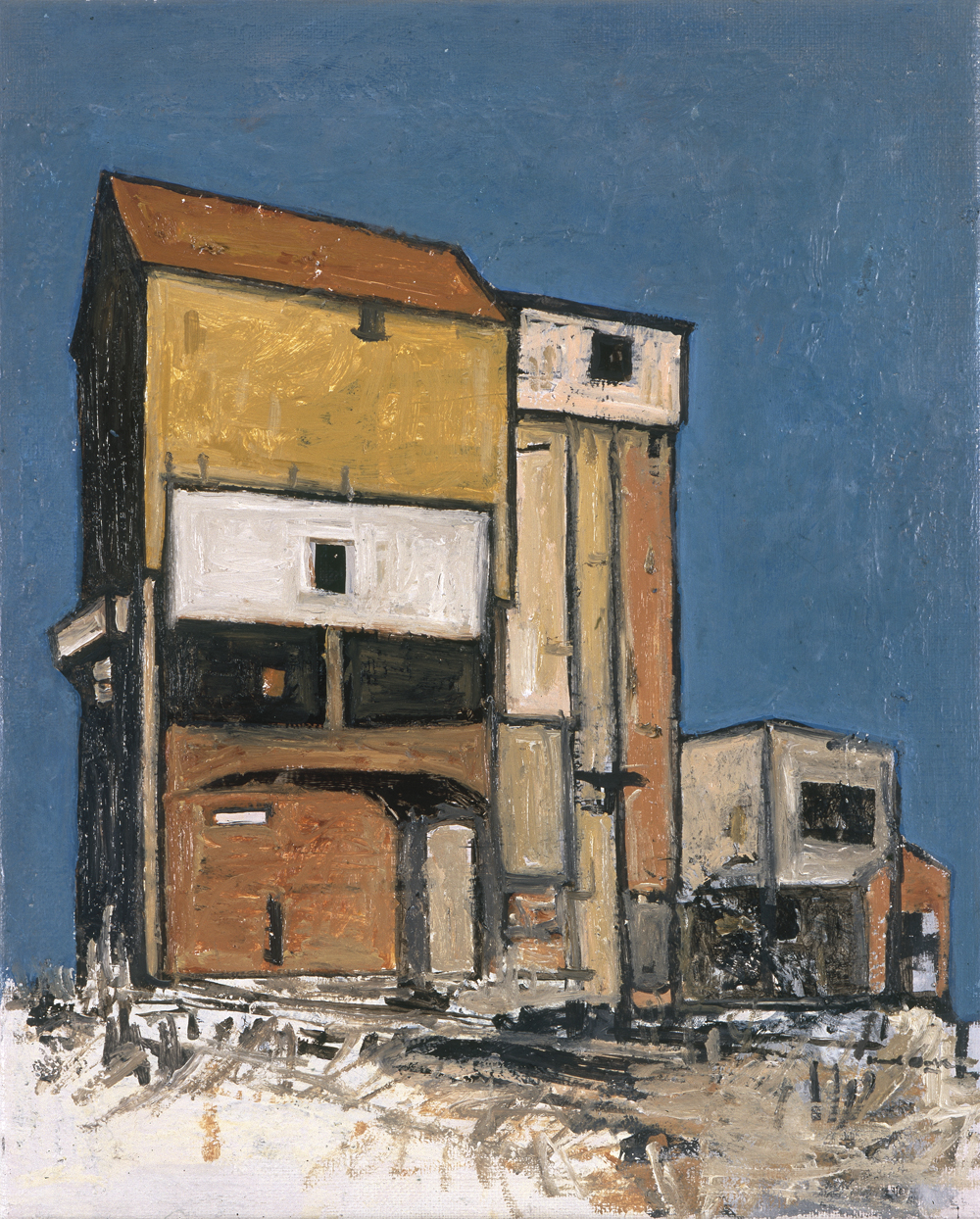 Canvas_Chalkpit silo_40x30cm_Oil_2000