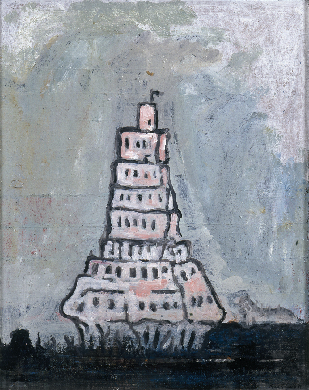 Canvas_Tower_50x40cm_Oil on canvas_2000
