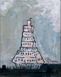 Canvas_Tower_50x40cm_Oil-on-canvas_2000