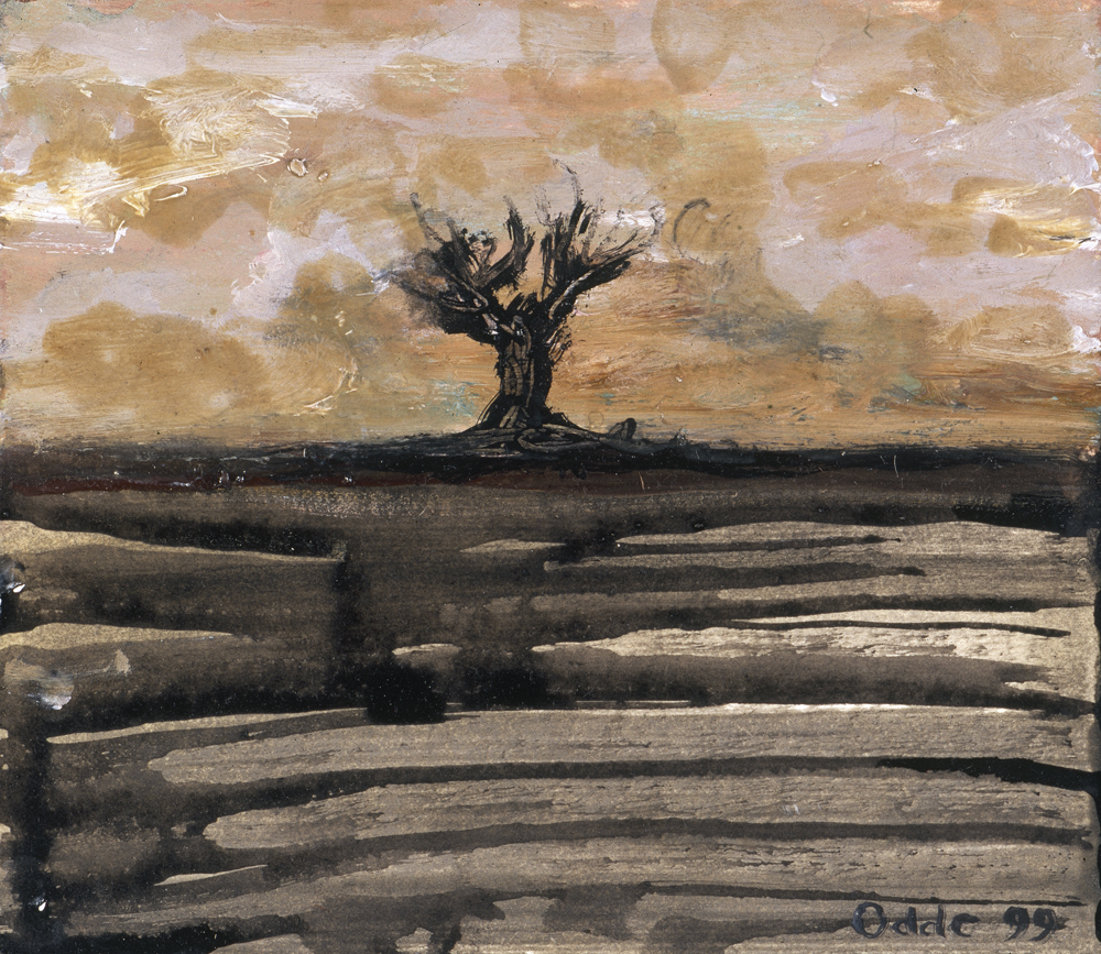 Canvas_Tree_25x30cm_Oil on painting board_1999