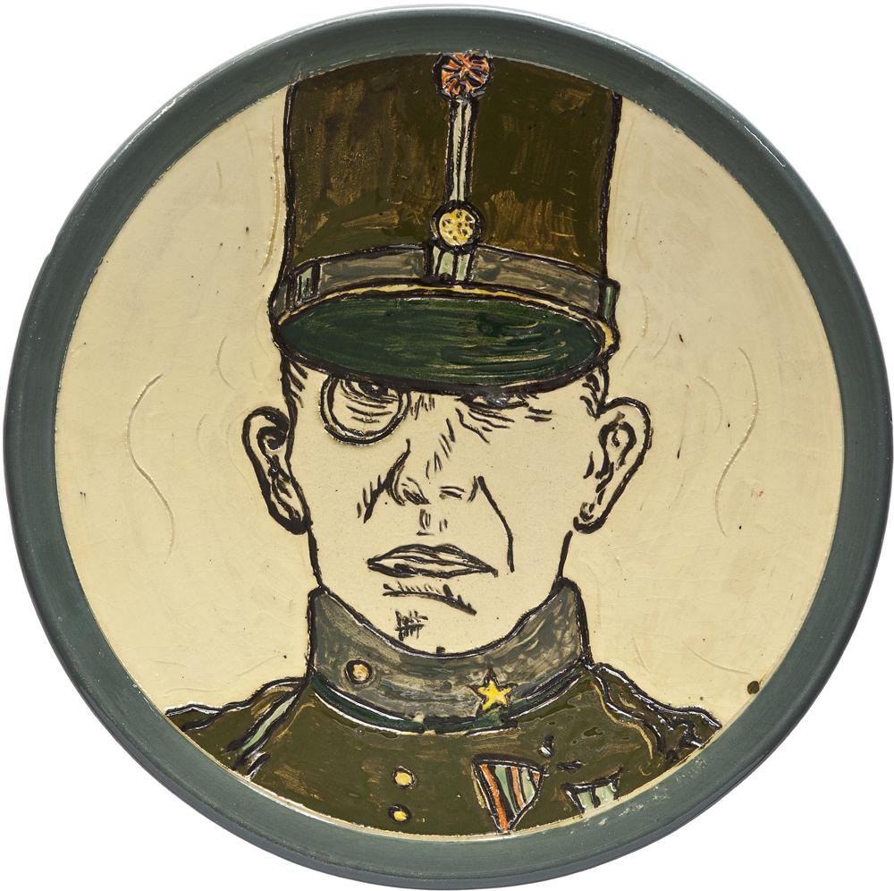 Ceramics_Decorated Plate IX_44,2cm_Stoneware_2012