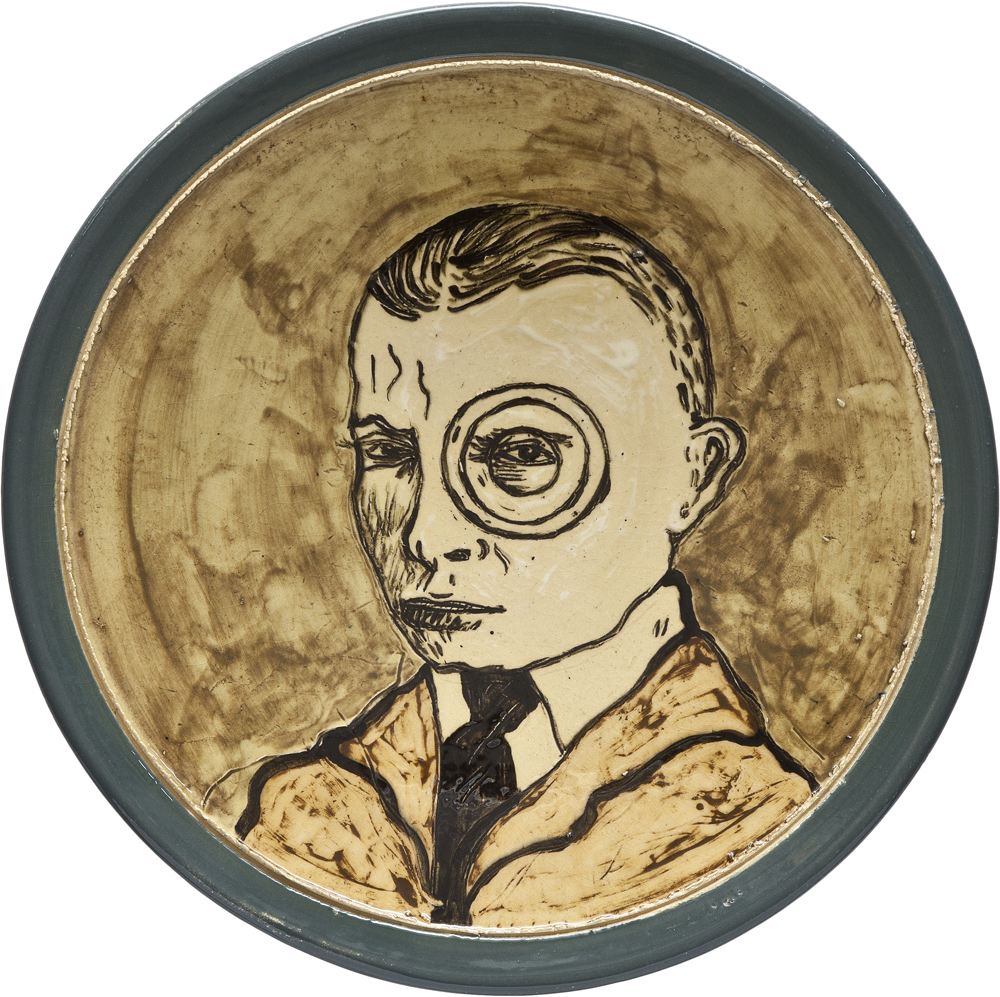 Ceramics_Decorated Plate XII_44,5cm_Stoneware_2012