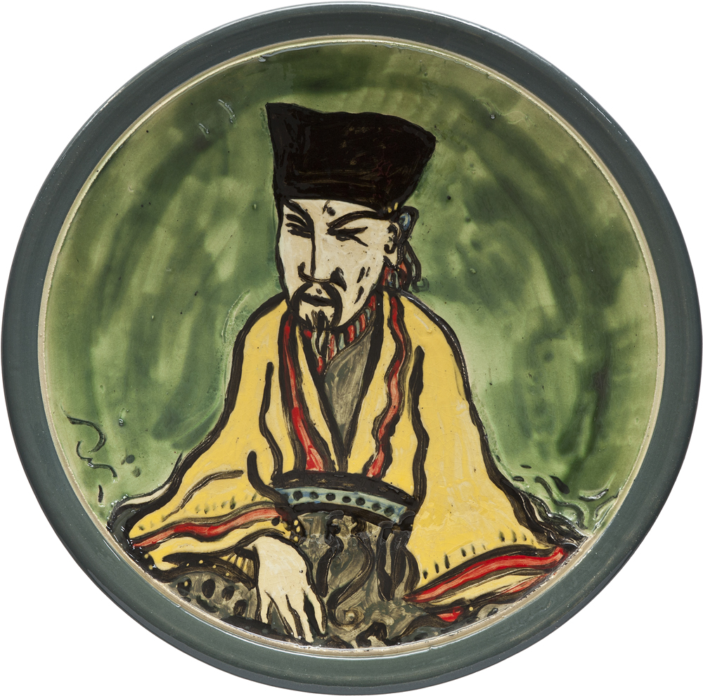 Ceramics_Decorated Plate XI_44,5cm_Stoneware_2012