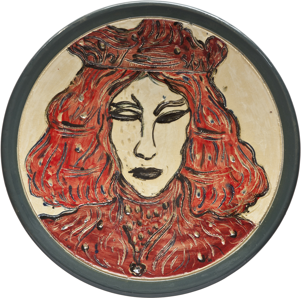 Ceramics_Decorated Plate X_45cm_Stoneware_2012