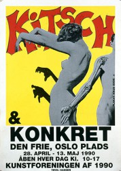 Graphics_Kitsch-&-Konkret_160x120cm_Silk-screen-poster_1990