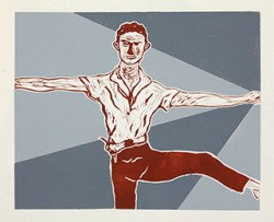 Graphics_Merce-Cunningham_50x62cm_Linocut_2011