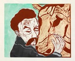 Graphics_Nietzsche-og-hest_50x70cm_Linocut_2011