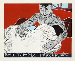 Graphics_Red-Temple-Prayer_50x62cm_Linocut_2011