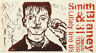 Graphics_Smuth-&-Blaney_37x64cm_Linocut-poster_2009