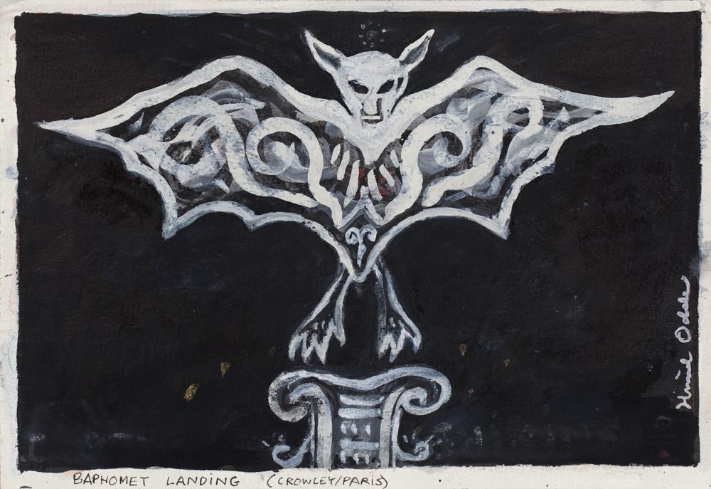 Paper_Baphomet Landing_18x25,5cm_Ink, gouache_2001-2012