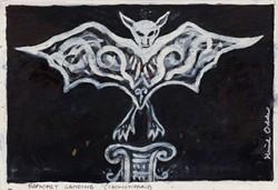 Paper_Baphomet-Landing_18x25,5cm_Ink,-gouache_2001-2012