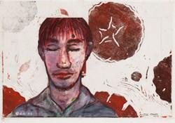 Paper_Blumenfeld-(roses)_29,5x42cm_Watercolour,-linocut_2013