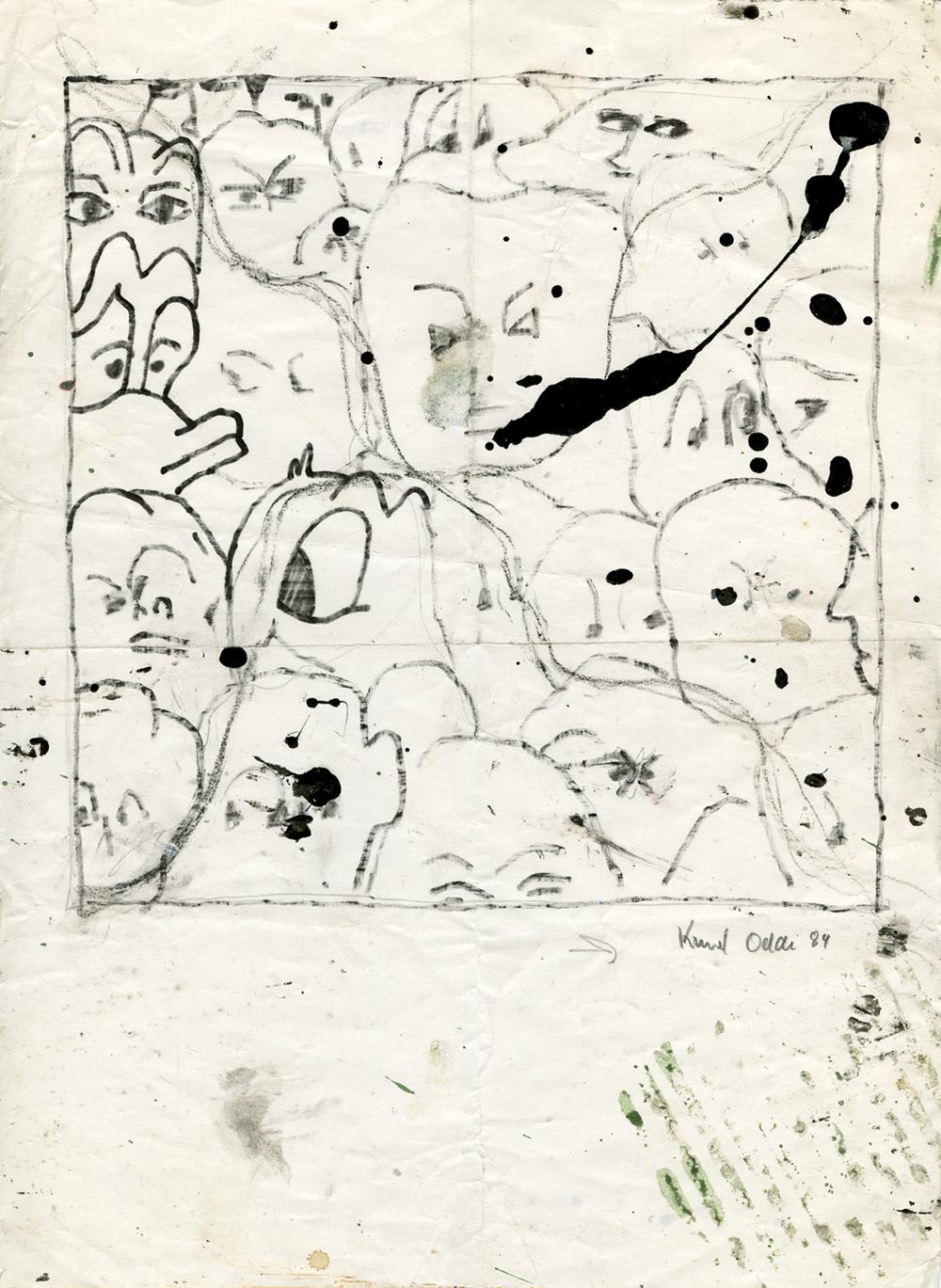 Paper_Donald D._29,5x21cm_Ink, permanent marker_1984