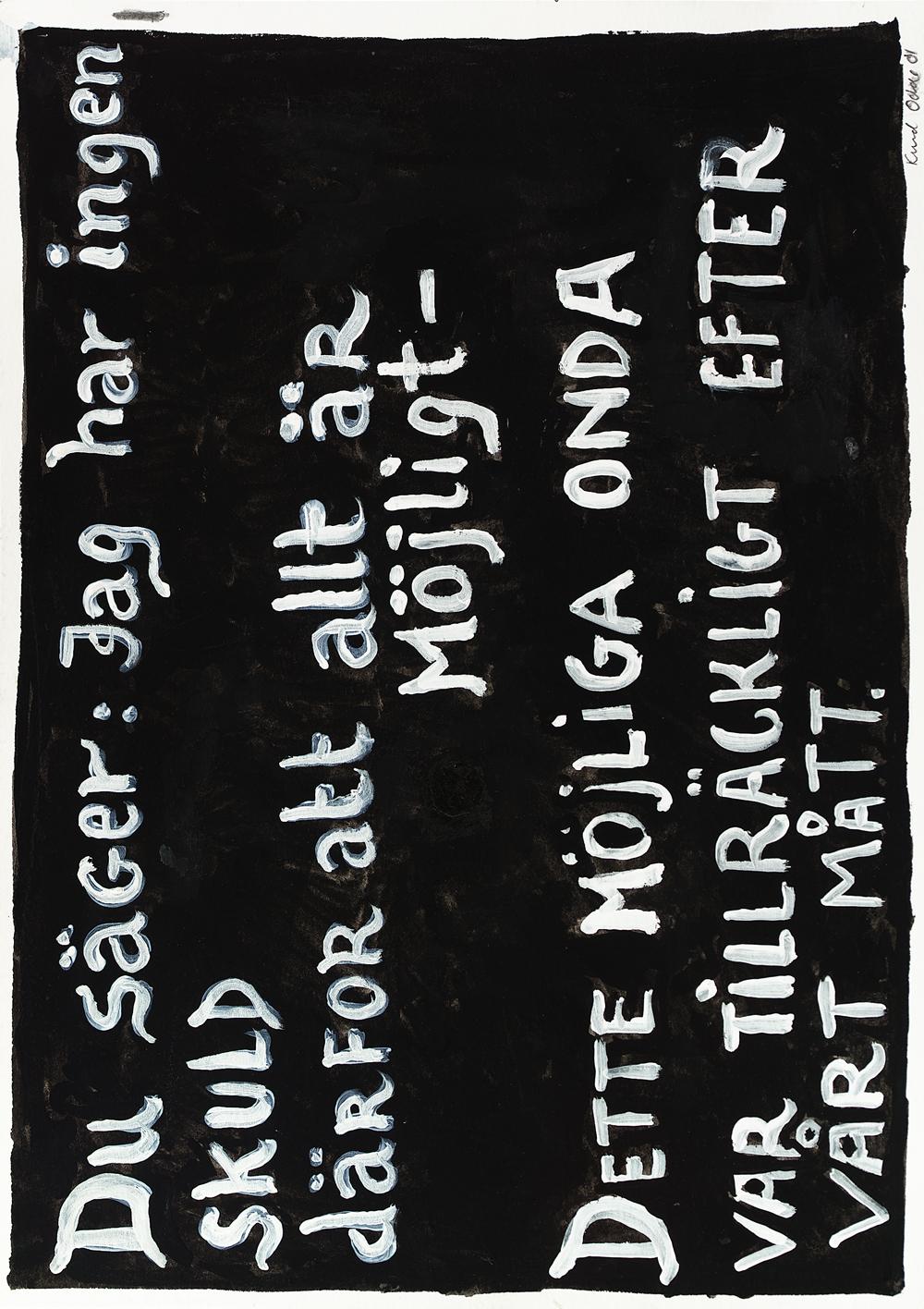 Paper_Du säger (Ekelöf)_30,5x40,5cm_Gouache_2001