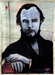 Paper_FJODOR-DOSTOJEVSKIJ_65X40cm_Acrylic,-stamp_2004