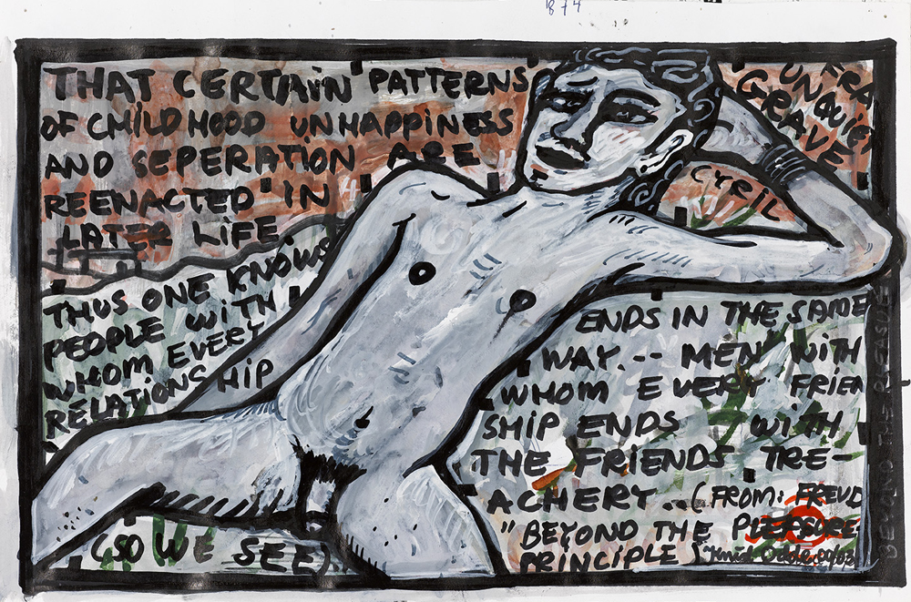Paper_From Unquiet Grave_25x35cm_Gouache, permanent marker_2002-2003