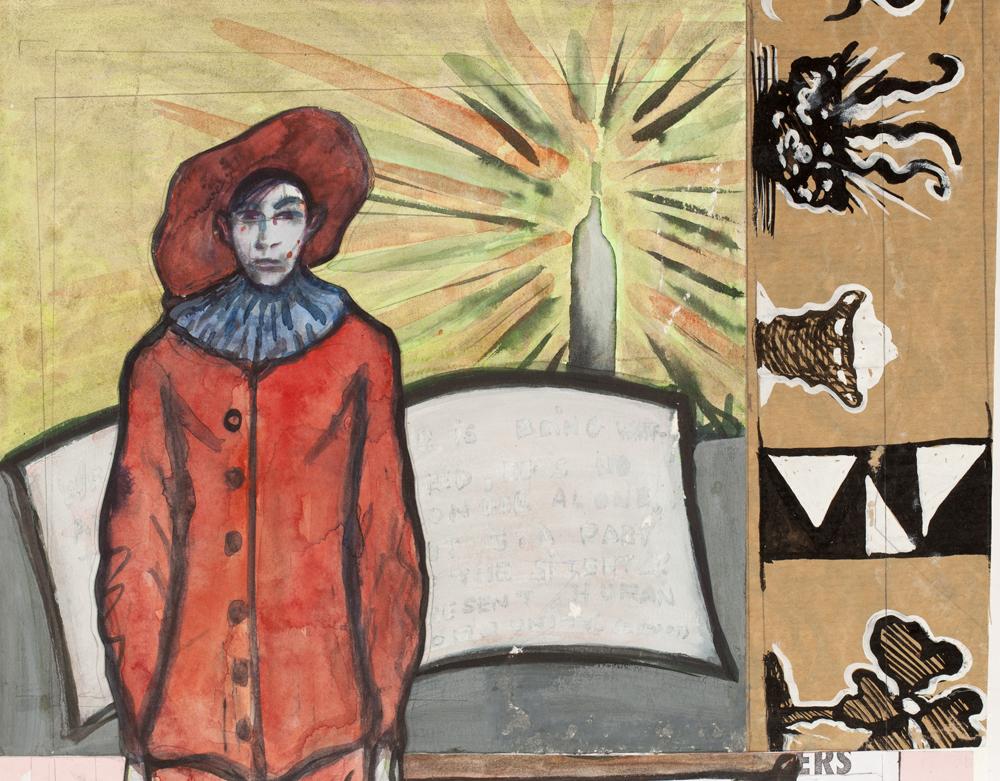 Paper_Gilles (after Watteau)_31x39cm_Gouache_2011