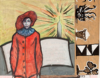 Paper_Gilles-(after-Watteau)_31x39cm_Gouache_2011