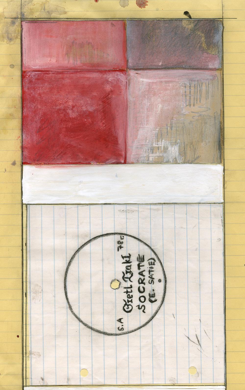 "Paper_Grete Trakl plays ""Socrate""_21x33,5cm_Gouache, speedmarker_2006"