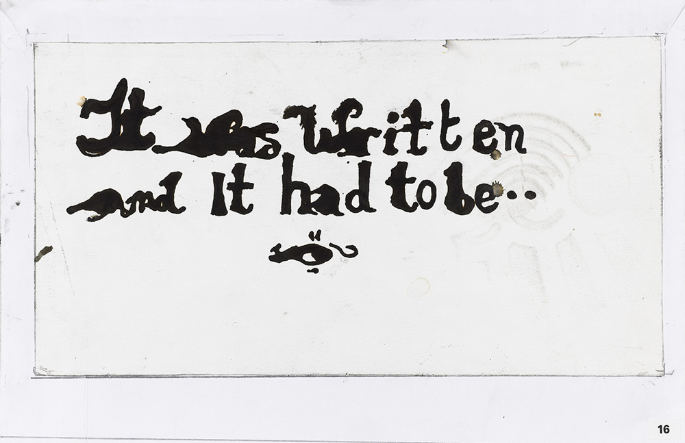 Paper_It was written_25x35cm_Ink_2005