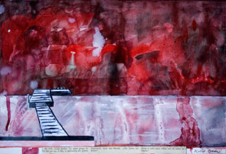Paper_Jetty-(title-unknown)_36x52cm_Watercolour,-collage_2010