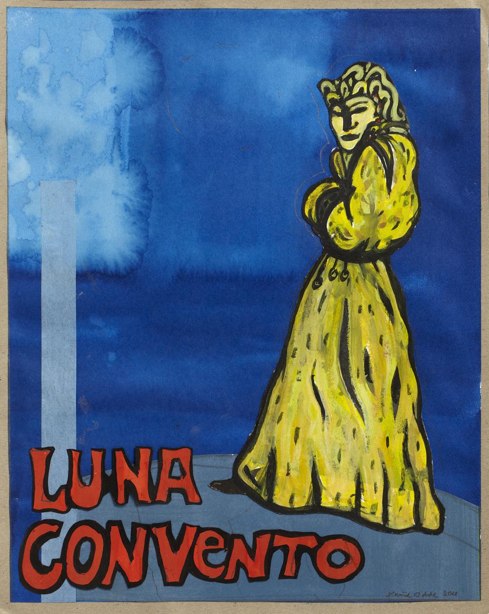 Paper_La luna Convento I_43x34cm_Watercolour, collage_2010