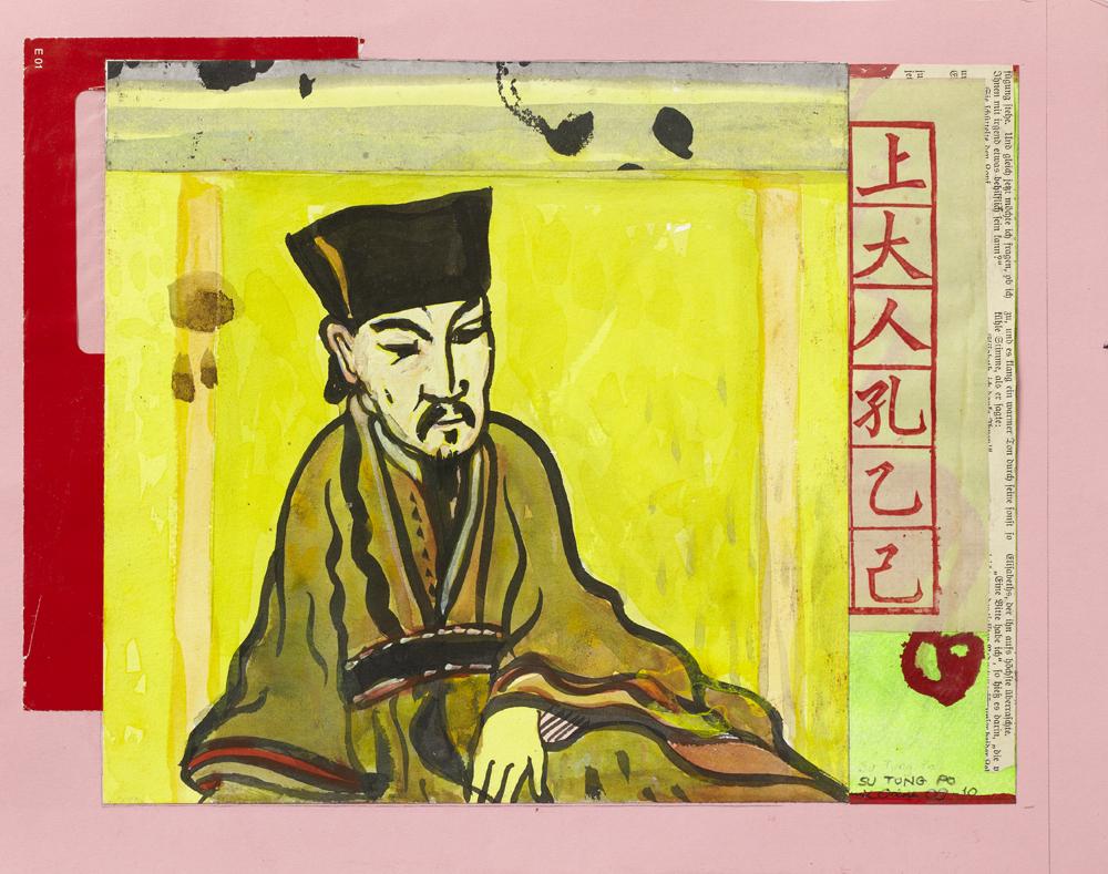 Paper_La luna Convento VI_33x41cm_Collage, gouache_2009-2010