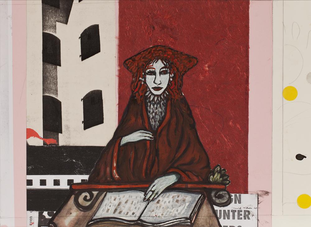 Paper_La luna Convento XVII_27x36cm_Gouache, collage_2011