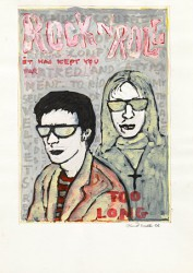 Paper_Lou-Reed-with-John-Call_29,5x21cm_Gouache,-pen_2006