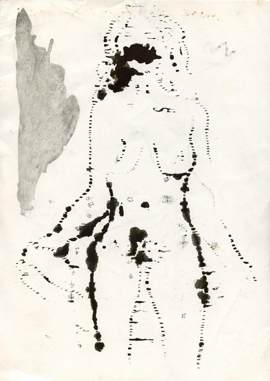Paper_Nude girl_29,5x21cm_Ink_1984