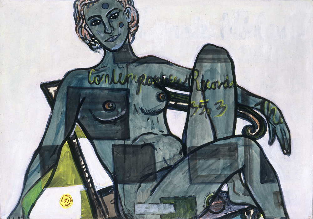 Paper_Odalisque (Matisse)_100x70cm_Acrylic_1999