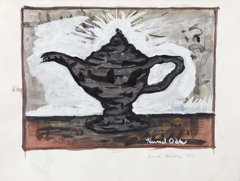 Paper_Olielampe_26x32cm_Watercolour, gouache_2003