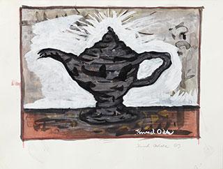 Paper_Olielampe_26x32cm_Watercolour,-gouache_2003