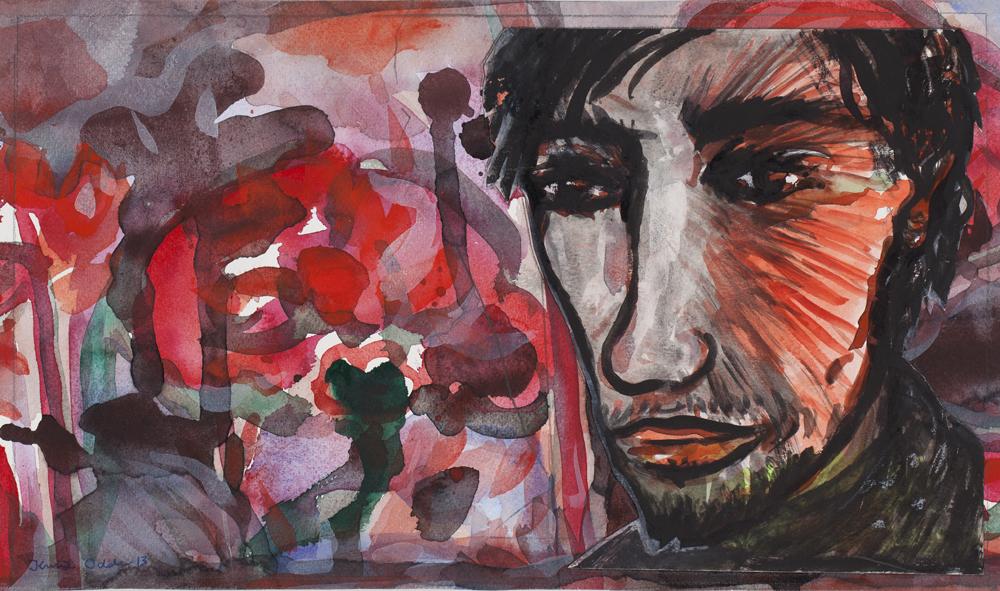 Paper_Olov Nygard_23x39cm_Gouache, watercolour_2013