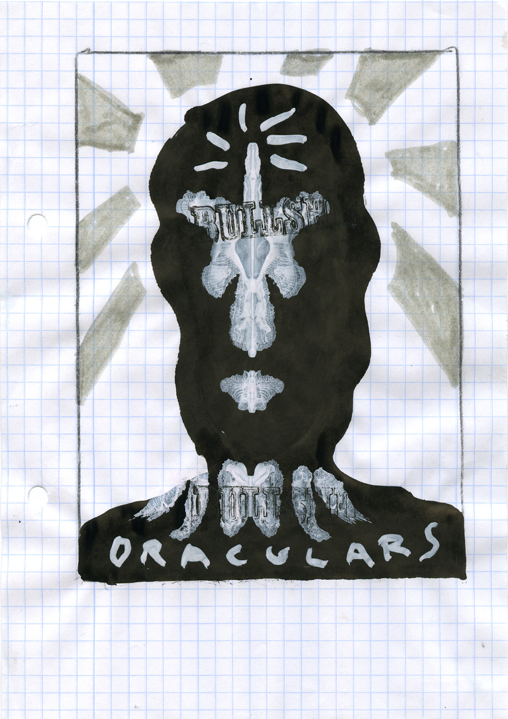 Paper_Oraculars_20,5x14,5cm_Ink, gouache, pen, stamp_2004