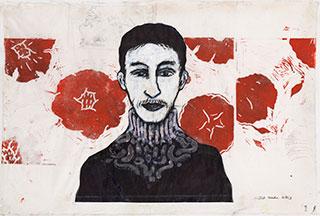 Paper_Rosegarden_61x86,5cm_Ink,-acrylic,-linocut_2013
