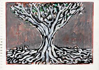 Paper_Tree_21x29cm_Gouache_2004