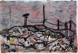Paper_Ugilt_29,5x21cm_Watercolour,-ink,-acrylic_2013
