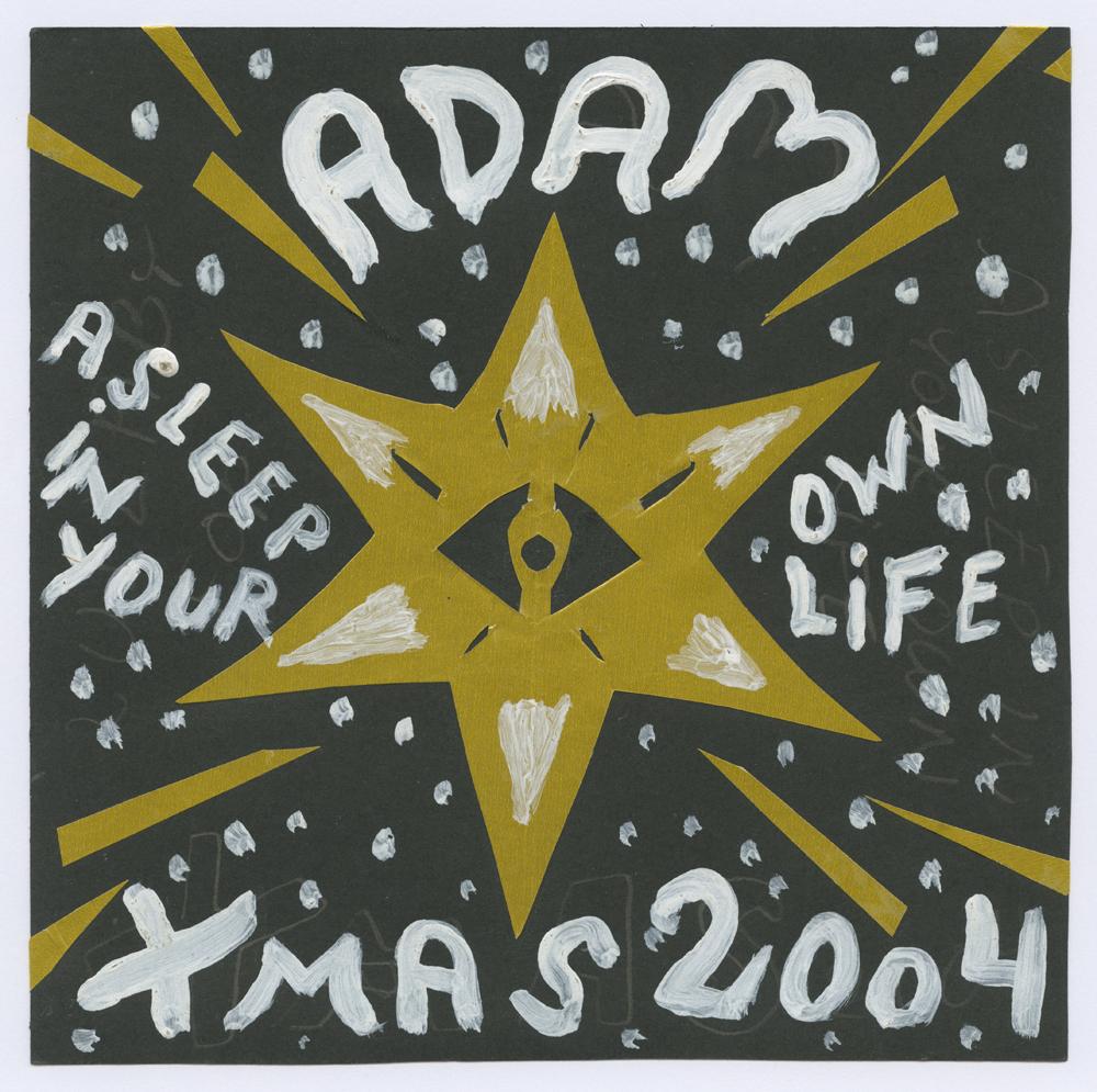 Scan_22_Vinyls_Adam X-mas cover_18x18cm_Glazed paper, gouache_2004