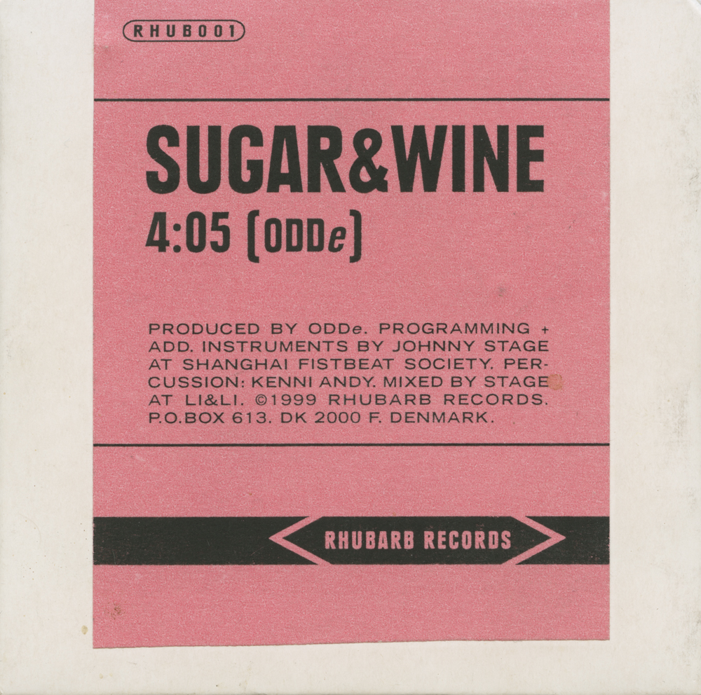 ODDe feat. the Jordanaires Sugar & Wine - bagside