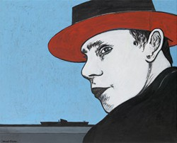 Canvas_Beuys-with-U-boat_70x82cm_Acrylic-on-canvas_2004