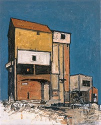Canvas_Chalkpit-silo_40x30cm_Oil_2000
