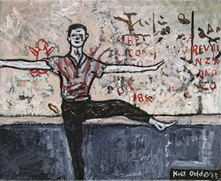 Canvas_Dancer-on-a-Plane_30x40cm_Oil-on-canvas_2003