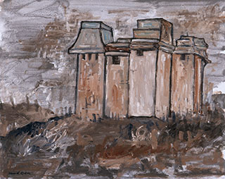 Canvas_Granary_40x60cm_Oil-on-painting-board_2003