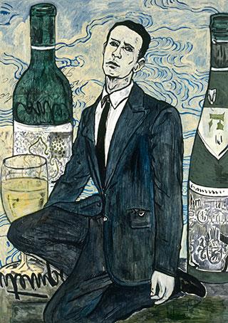 Canvas_In-a-cafe_170x121cm_Acrylic-on-canvas_1999